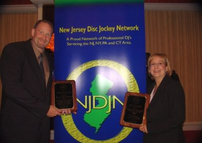 One of my proudest moments as President of the New Jersey Disc Jockey Network was when I was given a DIstinguished Leadership Award.