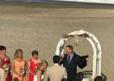 A beautiful beach side ceremony
